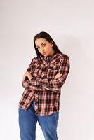 Vintage Checked Flannel Shirt Orange (M)