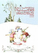 Mary Engelbreit-SNOWMEN FALL FROM HEAVEN UNASSEMBLED!-Christmas Card-NEW!