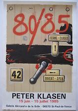 KLASEN PETER AFFICHE 1985 TIRÉE EN LITHOGRAPHIE MAEGHT ARTE LITHOGRAPHIC POSTER