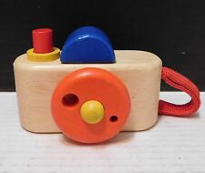 PLAN TOYS Wood Wooden Toy Camera