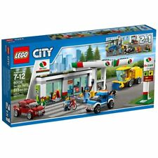Lego 60132 City Town SERVICE STATION Gas Pumps Tow truck kiosk lift Car Wash New