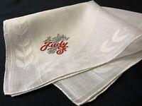 "#6804🌟Vintage 40s Madeira Monogram Name ""JUDY"" Fancy Wedding Handkerchief"