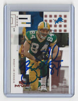 PACKERS Bill Schroeder signed card 2002 Upper Deck MVP #86 AUTO Autographed