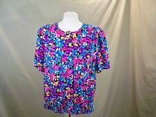 Alfred Dunner Blouse Shirt Multicolor Floral Women's Size 18