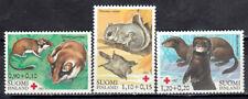 New ListingFinland 1982 Endangered Mammals, Red Cross Fund, Otter Mink, Squirrel, Mnh / Unm