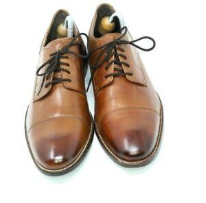 """Cloe Haan """"Benton II"""" Cognac Cap Toe Oxfords 9.5D $220 BRAND NEW! NR"""