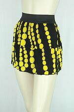 Poly Span Elastic Waist A-line Skater Mini Skirt Juniors SMALL S2012_8