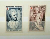 "FRANCIA FRANCE 1950 ""RED CROSS - CROCE ROSSA"" MH* SET (CAT.B)"