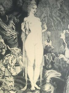 Norman Lindsay - priestess to Magi. No 359/ 550 Limited edition etching 1986