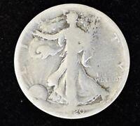 1920 S - LIBERTY WALKING HALF DOLLAR - SILVER - GOOD CONDITION