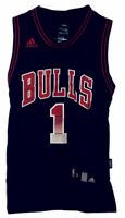 Chicago Bulls Derrick Rose Sewn Patch Jersey #1 Adidas Black Youth Small NBA