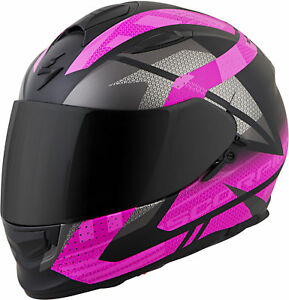 Scorpion EXO-T510 FURY Full-Face Motorcycle Helmet (Black/Pink) Choose Size
