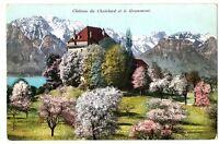 CPA Suisse Lémanique Château du Châtelard et le Grammont