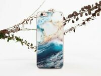 Ocean Case iPhone 6 6s 7 8 X Plus Clear Blue Marble Case iPhone XS Max XR Cover