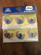 Disney Pins Character Stitch Emoji 6 Pin Booster Set