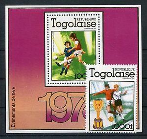 Togo 1282 A Block 128 A postfrisch / Fußball .............................1/2245