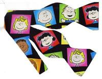 (1) BOW TIE - CHARLIE BROWN, LINUS, LUCY & THE PEANUTS GANG PHOTOS ON BLACK