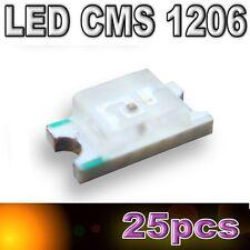 103/25# LED CMS 1206 orange 180mcd - SMD orange- 25pcs