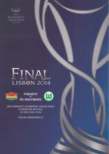 2014 UEFA CHAMPIONS LEAGUE FINAL WOMENS FINAL TYRESO v WOLFSBURG MINT PROGRAMME