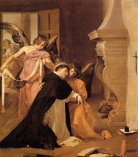 Art Oil painting Diego Velazquez - The Temptation of St. Thomas Aquinas canvas