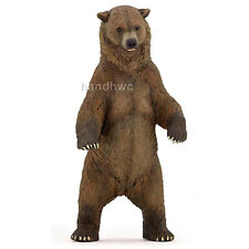 Papo 50153 Grizzly Bear Standing Model Animal Toy Figurine - NIP
