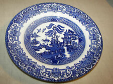 """English Ironstone Tableware Staffordshire Blue Willow Bread/Butter Plate 6 3/4"""""""