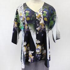 NEW NWT Citron Clothing Plus Size Digital Floral Print V-Neck Tunic Blouse 2X