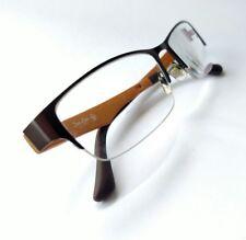 Zuo Luo Eyewear Brown & Orange Uber modern rectangular eyeglass frames 50()17