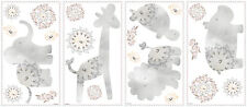 GRAY BABY ANIMALS  22 New WALL DECALS Kathy Davis Animal Nursery Stickers Decor