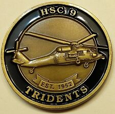 Helicopter Sea Combat Squadron Nine (HSC-9) Tridents Navy Challenge Coin