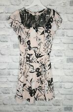 Floral Vestido De Té día Primark Boda Carreras Bautizo Bnwt Talla 10 negro desnudo