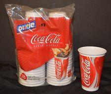 VTG 2003 Coca Cola Plastic Cups Dixie Dispense Refills 12 oz  #28  NOS AS IS