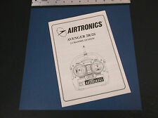 VINTAGE AIRTRONICS AVENGER 2R/2S 2 CHANNEL SYSTEM INSTRUCTIONS BROCHURE *VG-COND