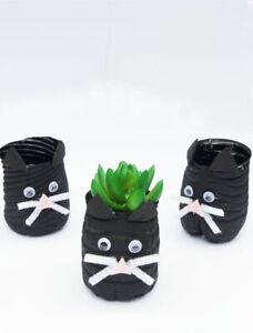 Water Bottle Cat Planter Handmade decor for home