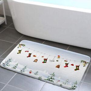 Christmas Wish Gift Socks Bathroom Rugs Bath Mats Mat Small Carpet