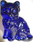 dark+Cobalt+Blue+glass+cat+kitty+kitten+animal+paperweight+sitting+figurine+art%C2%A0