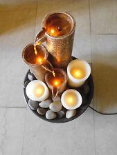 Toller Elambia Brunnen Zimmerbrunnen flammenlose Kerzen Brauntöne