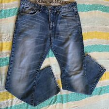Express Kingston Classic Low Rise Boot Cut Men's Jeans Size 33x30 Light Blue