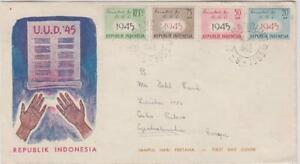 Indonesia 1945 FDC to Czechoslovakia #HYM#