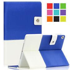 Hybrid Folio Leather Smart Case Cover Stand Wake/Sleep for Apple iPad Air 1 & 2