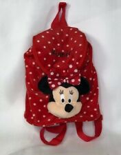 DISNEY Minnie Mouse Plush With Head Polka Dot Backpack