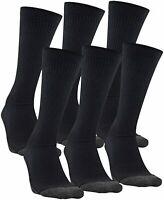 Under Armour Adult Performance Tech Crew Socks, 6-Pairs, Black, Size 9.0 uu1N