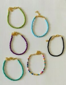 Boho Seeds Beaded Strand Bracelet Assorted Colours