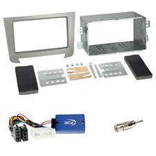 Ssangyong Rexton ab 2013 2-DIN Radioblende silber + Multilead LFB-Adapter Set