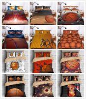 3D Basketball Flame Bedding Set Sports Boy Duvet Cover Quilt Cover Pillowcase