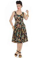 Hell Bunny Monte Carlo Palm Casino Vintage Retro 50s Rockabilly Long Flare Dress