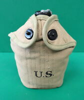 US MODEL M-1910 CANTEEN , COVER AND CUP- KHAKI 1942