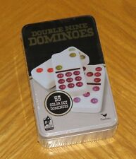 Double Nine Dominoes Game Tin - 55 Color Dot - Starter Piece - Cardinal - Sealed