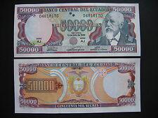 ECUADOR  50000 Sucres 12.7.1999  Serie AJ  (P130d)  UNC