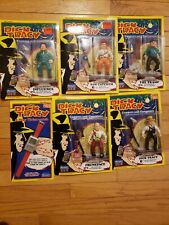 Dick Tracy Action Figures Gangsters And Coppers Nip Lot Of 5 and Watch